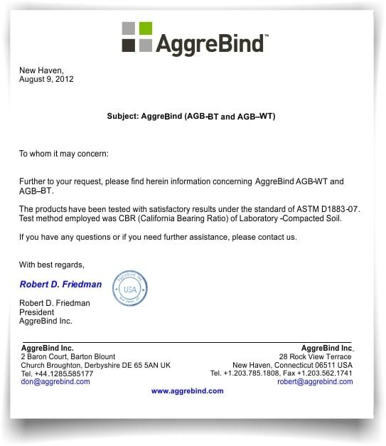 Certificado Norma ASTM D183-07 CBR Tested