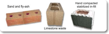 AggreBind soil stabilized bricks using waste material