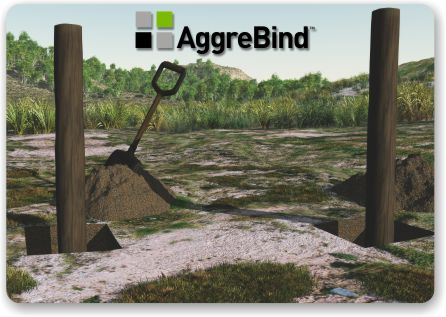 fence post installation with AggreBind