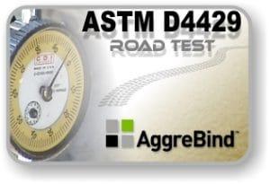 Soil stabilizing test AggreBind